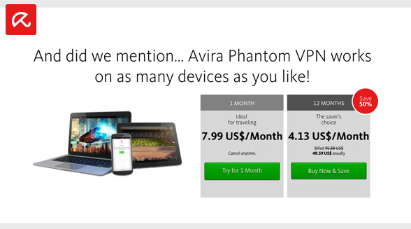 Avira works on unlimited devices