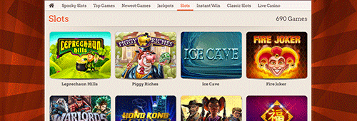 Don't miss all of the slots games on offer at LeoVegas