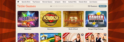 LeoVegas offers a wide range of slots, live casino games, blackjack, roulette and more