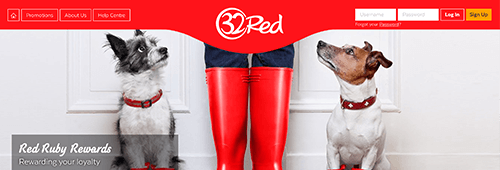 32Red's loyalty programme is called Red Ruby Rewards
