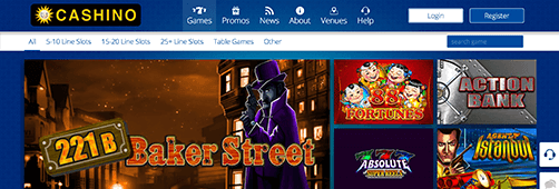 Cashino offers top slots games and more