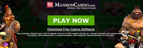 Mansion Casino offers downloadable software