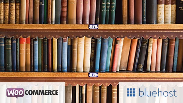 Bluehost + WooCommerce is best for selling books
