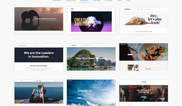 Weebly has a number of themes to choose from