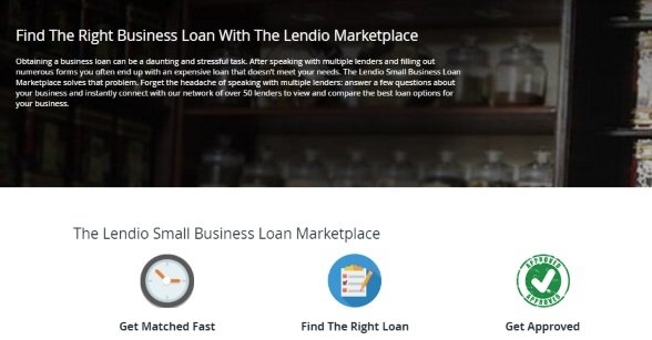 Find the right business loan with the Lendio marketplace