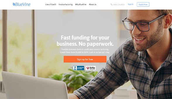 BlueVine simplifies the funding process and makes it easier for businesses to access financing