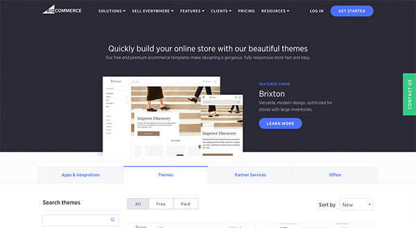 BigCommerce has several unique themes and templates