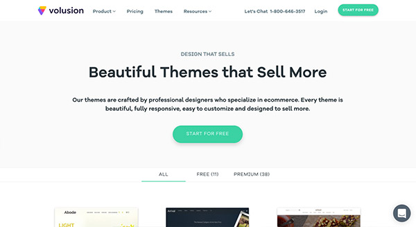 Volusion offers beautiful themes