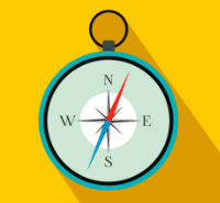 Web Hosting Guide Compass Icon Thumbnail