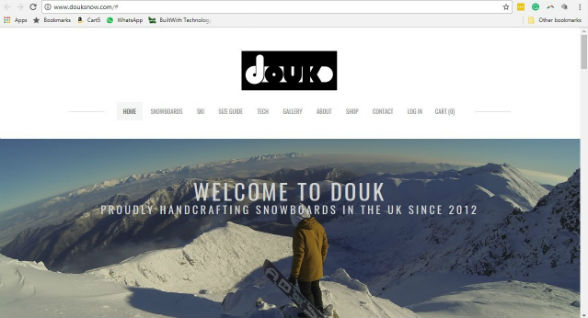 Douk is an online store for snowboards