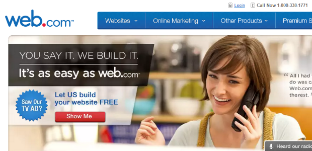 Web.com makes it simple to build a website