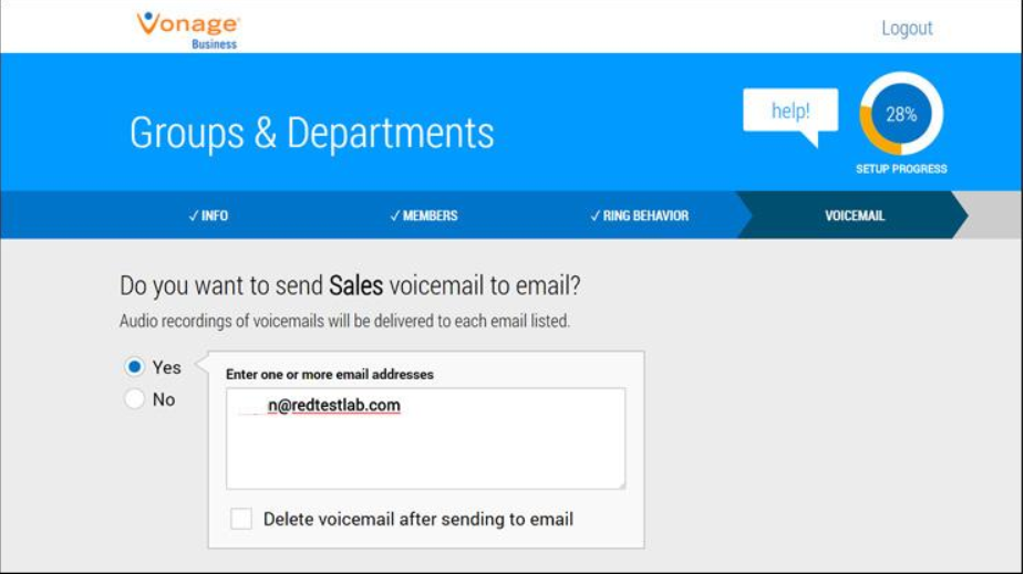 Vonage has several helpful features for businesses