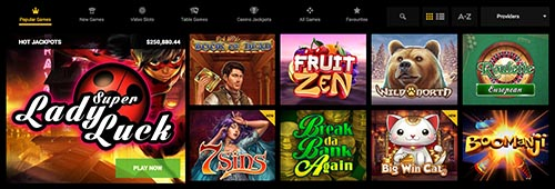 GoWild has a range of casino games, including many from Microgaming