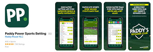 Paddy Power has a top-notch mobile sports betting app