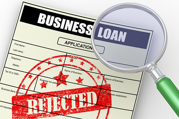 Business loan denied