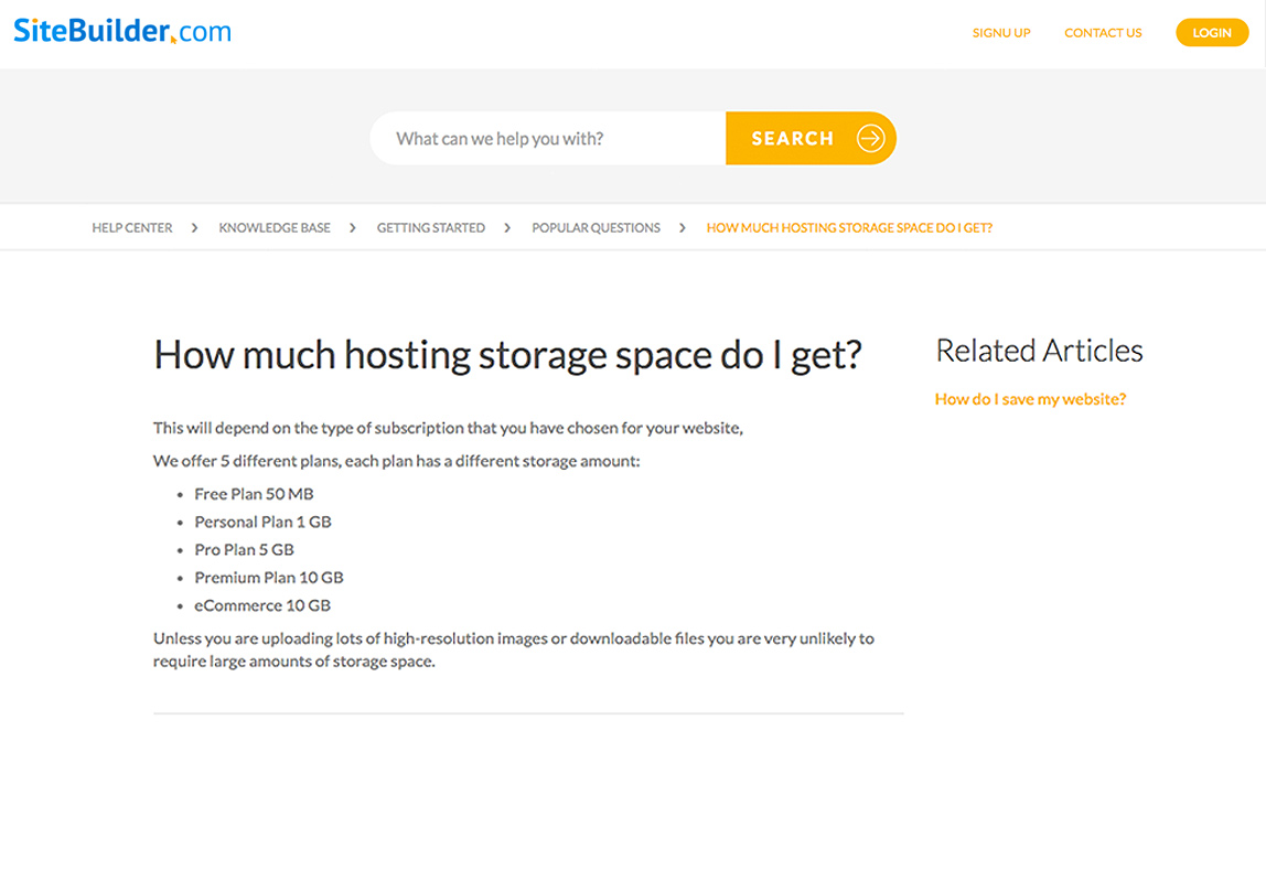 SiteBuilder provide a variety of hosting options