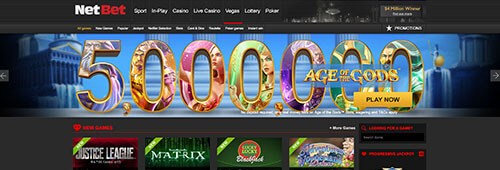 NetBet's casino offerings are not to be missed