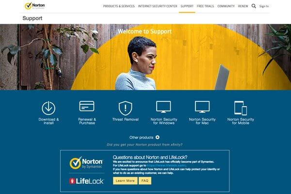 Norton by Symantec has support for any problem, any time