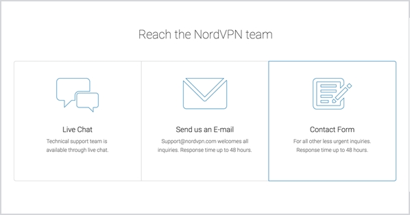 NordVPN has friendly and helpful customer support available 24/7