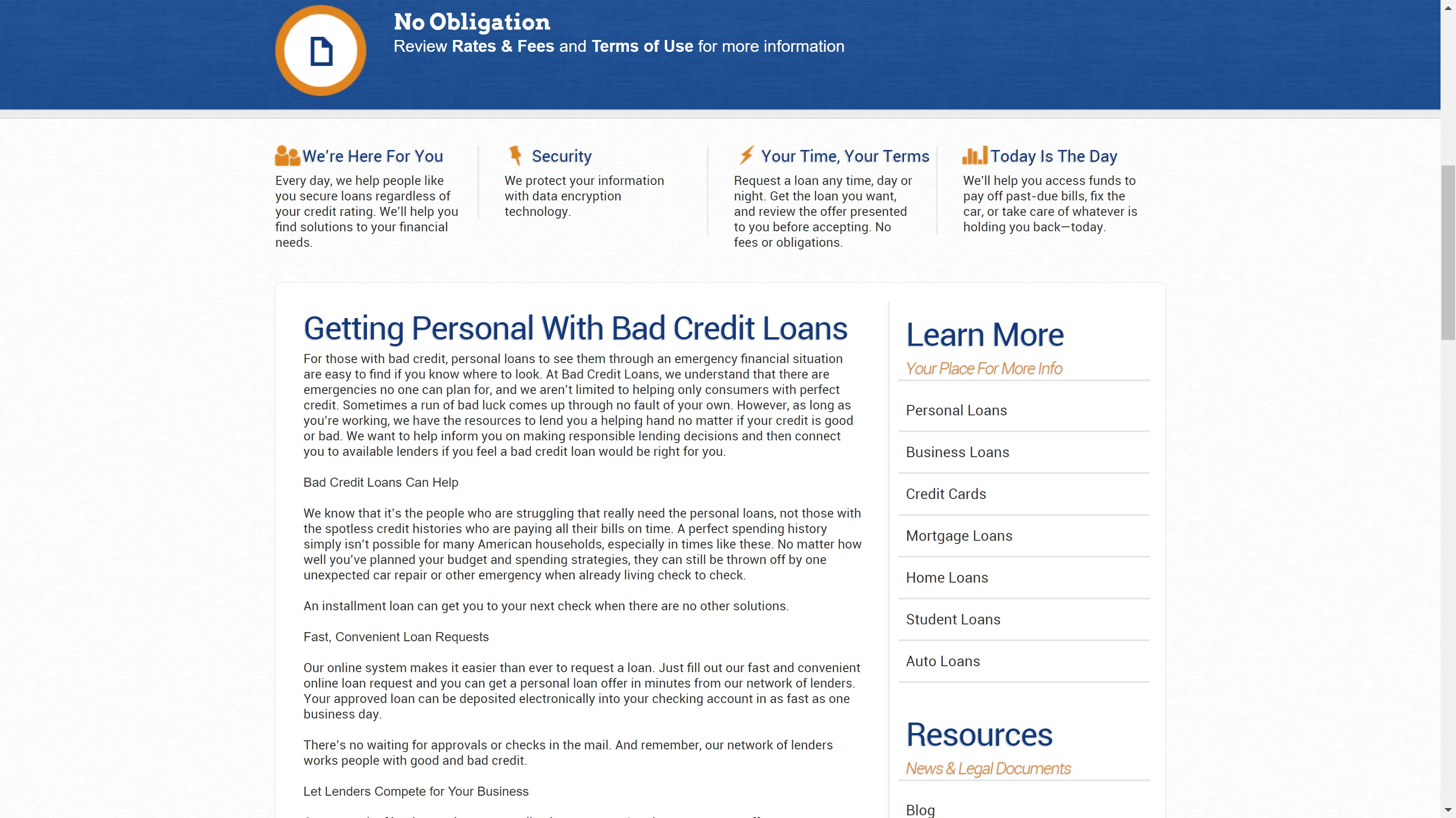 Bad Credit Loans Review 2017