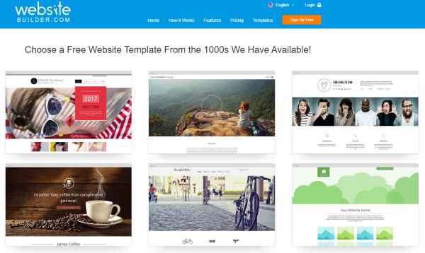 WebsiteBuilder Templates Reviewed