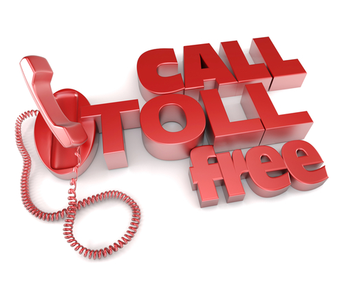 You can call toll free with a voip phone