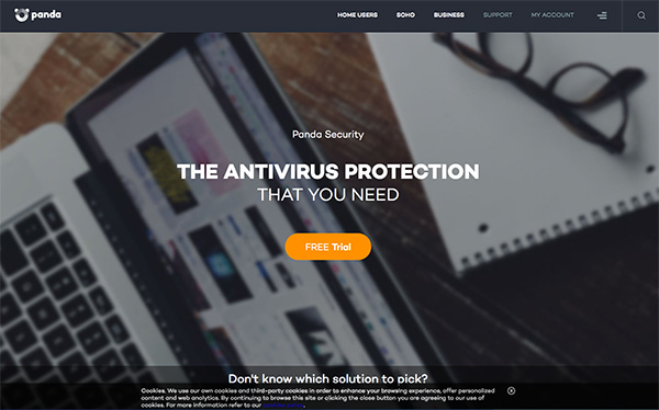 Panda antivirus offers a free trial