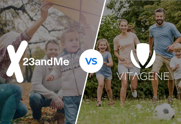 23andMe vs Vitagene - which DNA test is better?