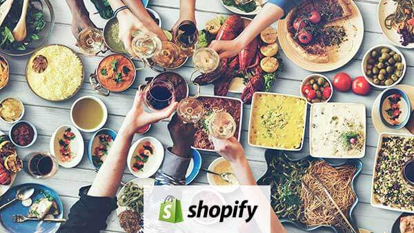Shopify is best for food and drink Ecommerce