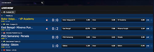 Enjoy 10Bet's in-play betting options