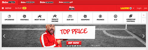 The Sun newspaper has its own sports betting site, Sun Bets