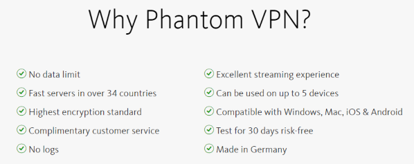 Why go with Avira Phantom VPN