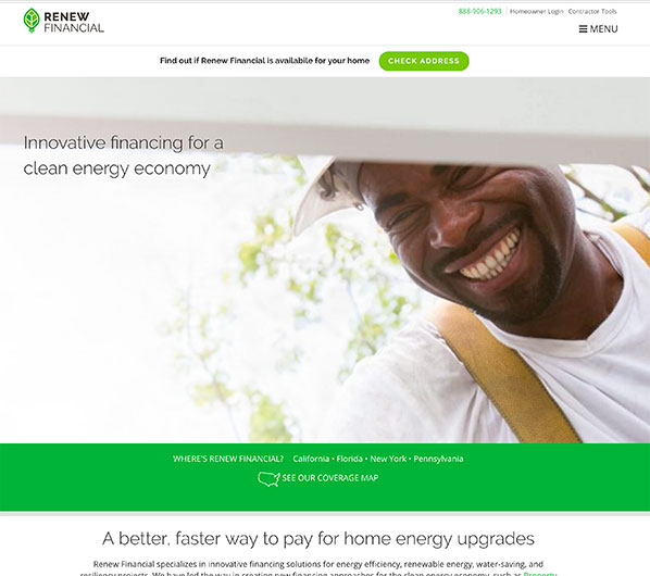 Affordable financing for renewable energy with Renew Financial