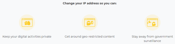 Change your IP address with CyberGhost