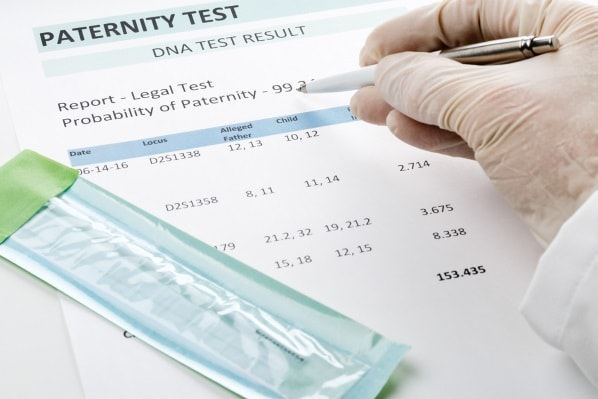 Paternity test results