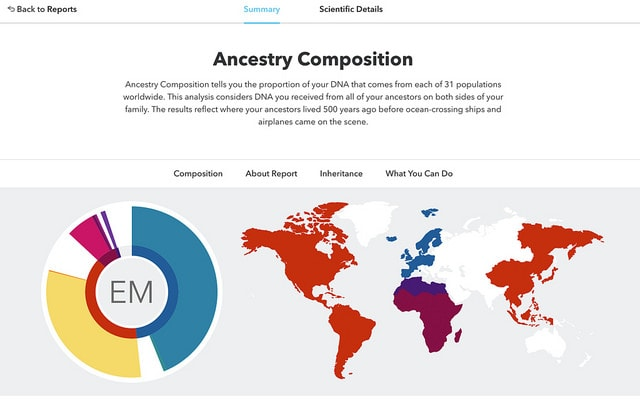 DNA ancestry report