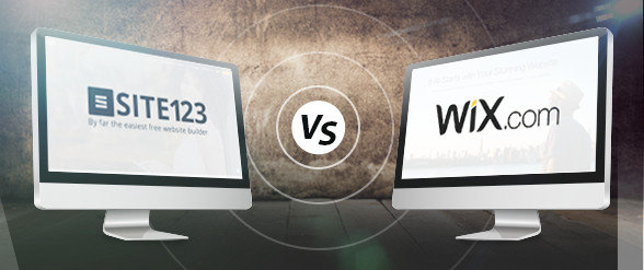 Wix vs. Site123 Battle