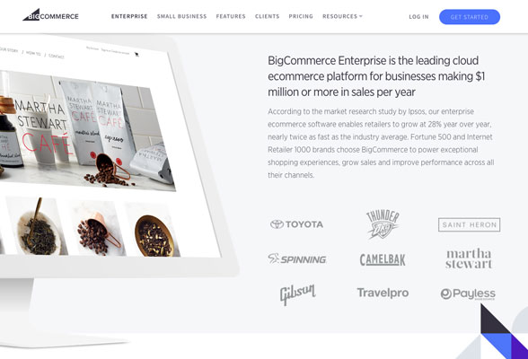 BigCommerce has a rich selection of app integrations