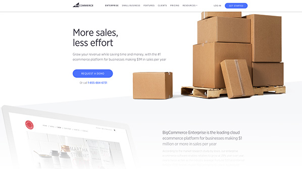 BigCommerce Enterprise offers unlimited product options