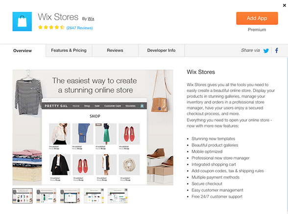 The sky's the limit with Wix Stores