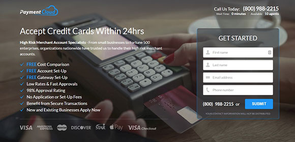 PaymentCloud enables merchants to accept credit cards in as little as 24 hours