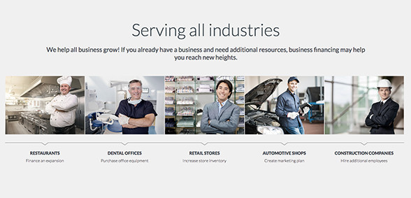 MyBusinessLoans.com Serves All Industries