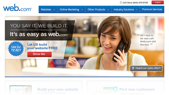 Web.com offers world-class customer service