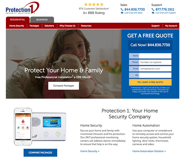 protect your home and family with protection1