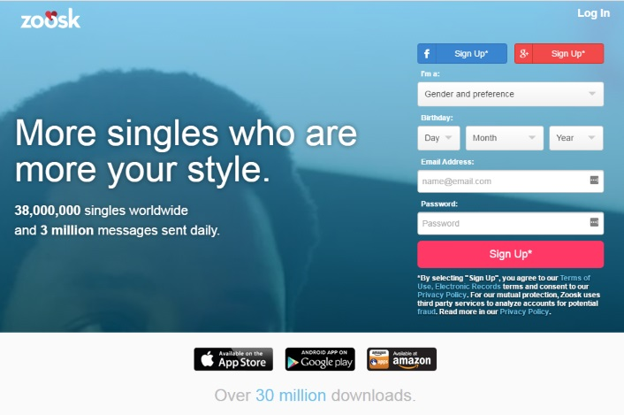 Zoosk Sign up