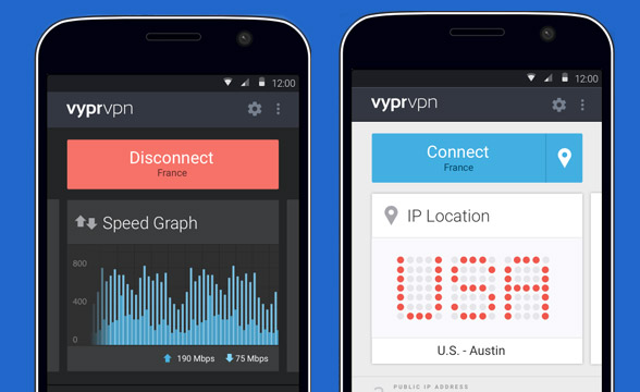 VyprVPN is easy to use and install on mobile devices