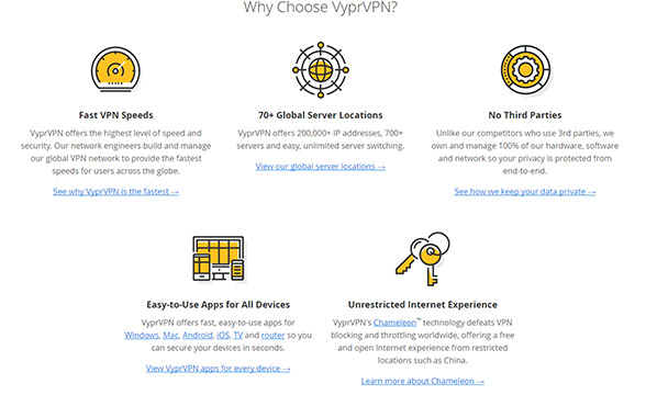 Enjoy unrestricted internet access with VyprVPN
