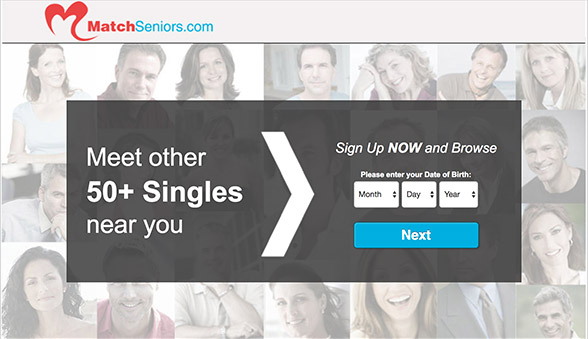 sign up screen for Matchseniors