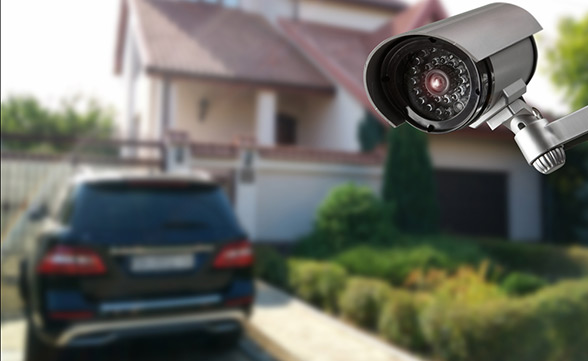 place security cameras around your home