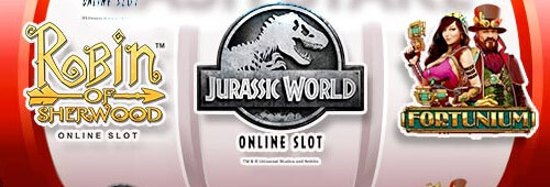 Play games like Robin of Sherwood, Jurassic World and Fortunium at 333 Casino